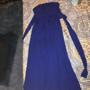 BEAUTIFUL LONG ROYAL BLUE DRESS